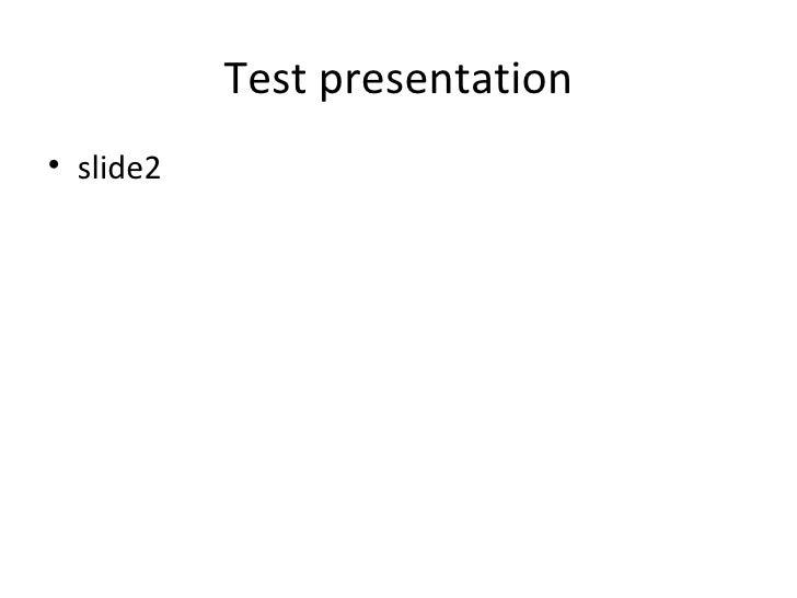 Test Slide 2