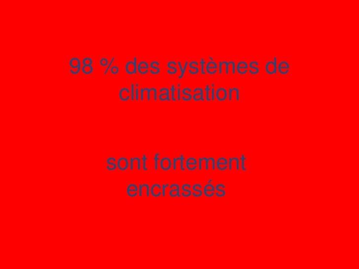 98 % des systèmes de    climatisation   sont fortement     encrassés