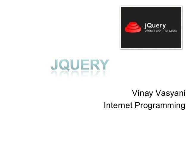 Vinay VasyaniInternet Programming