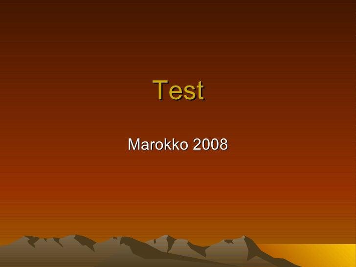 Test Marokko 2008