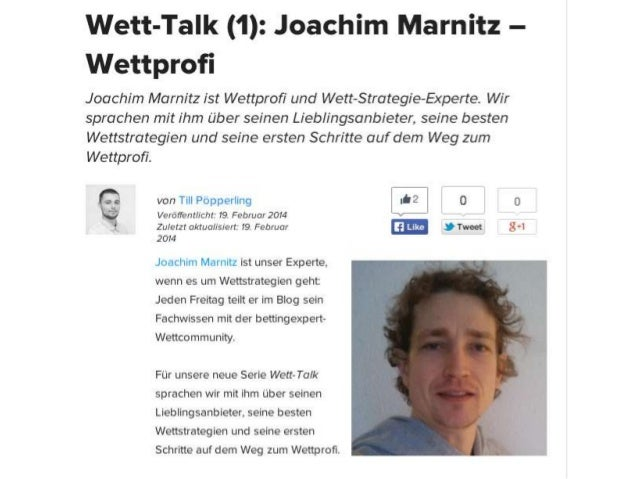 Wett-Talk Joachim Marnitz bettingexpert Blog