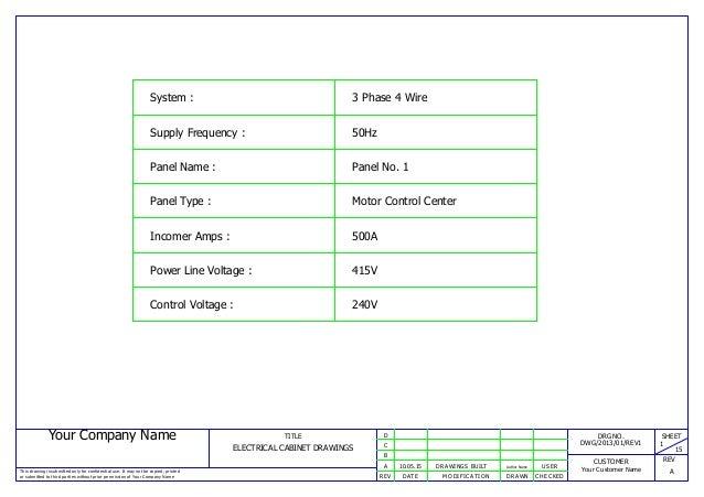 mcc panel wiring, ga and bom sample Samsung Wiring Diagram