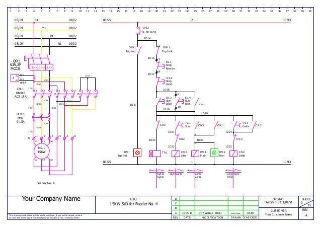 mcc panel wiring ga and bom sample rh slideshare net Single Phase Transformer Wiring Connections Dual Primary Transformer Wiring