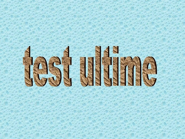 test ultime