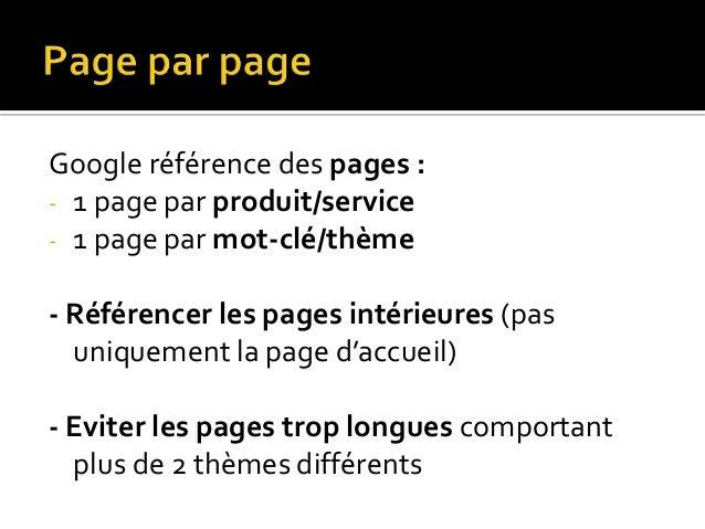 -  Créer des liens entre les pages { l'intérieur du site : - Faire davantage de liens vers les pages les plus  importantes...