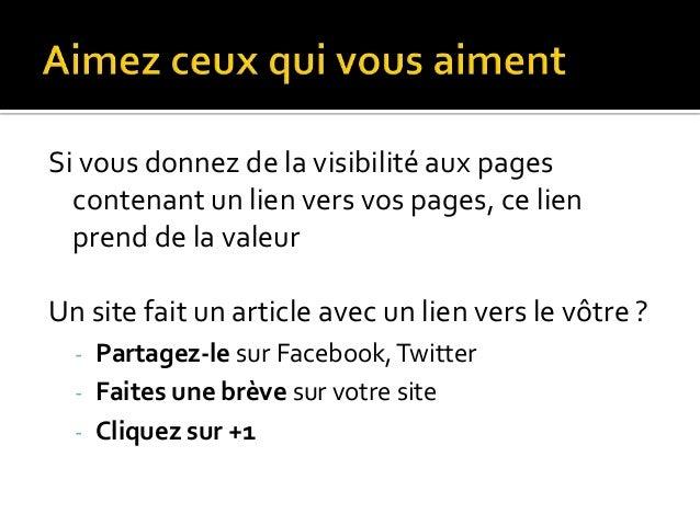 Autorité = nombre de domaines (sites) qui vous font un lien Un lien sur 2 domaines vaut mieux que 2 liens sur un même doma...