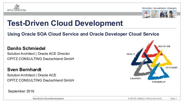 © OPITZ CONSULTING GmbH 2016 Slide 1Test-Driven Cloud Development September 2016 Test-Driven Cloud Development Danilo Schm...