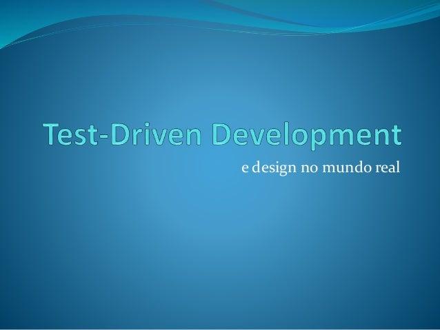 e design no mundo real