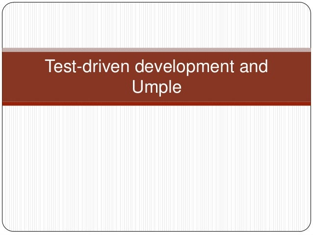 Test-driven development and Umple