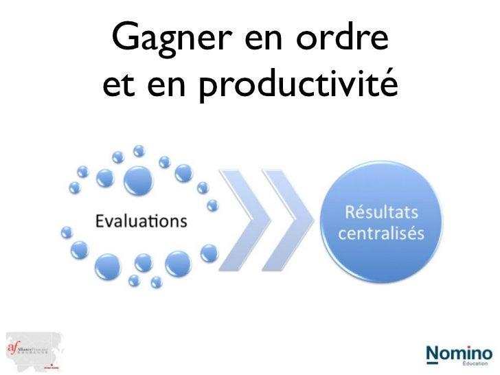 Gagner en ordreet en productivité