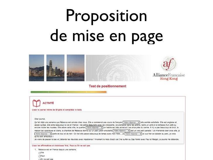 Propositionde mise en page