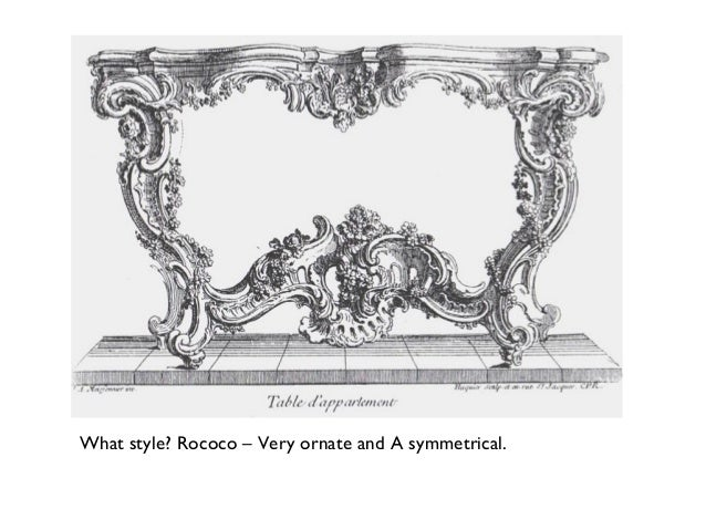 genre analysis the baroque and rococo periods The last phase of baroque was rococo, in which the curves and dynamism of baroque were retained, but its weighty drama softened to a light, playful style cheerful subjects, light colours, and delicate curves are all typical features of rococo art.