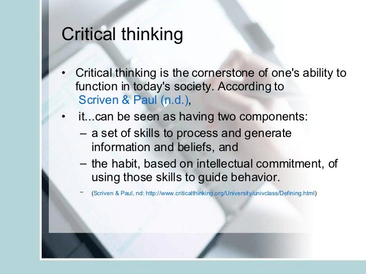Critical Thinking in Nursing Practice   ppt download Critical Thinking  Nursing Process Management of Patient Care
