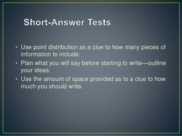 strategies on taking essay exams By preparing a plan to approach exams, students give themselves a big boost here are some strategies on how to do well on short answer and essay tests.