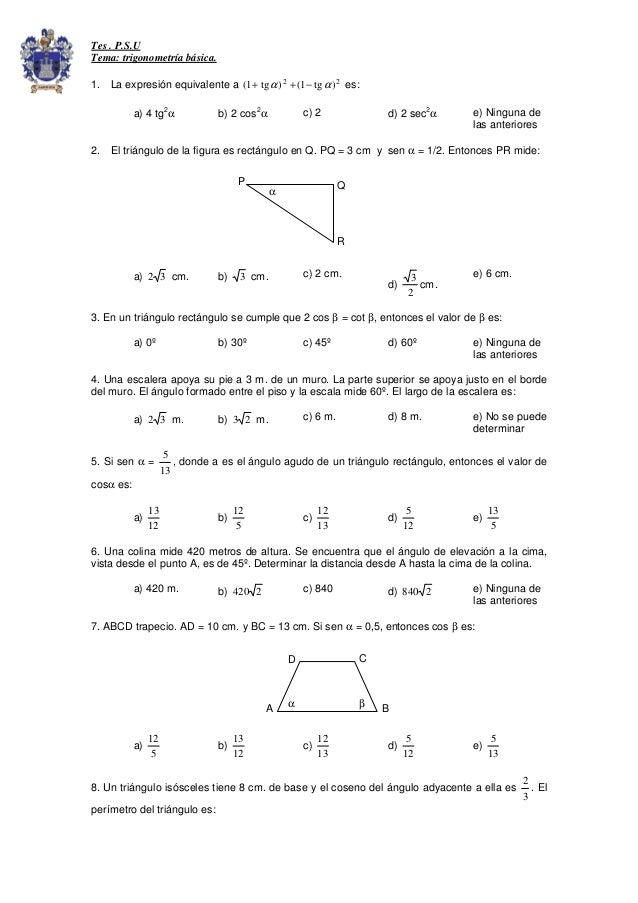 Test trigonometria basica.