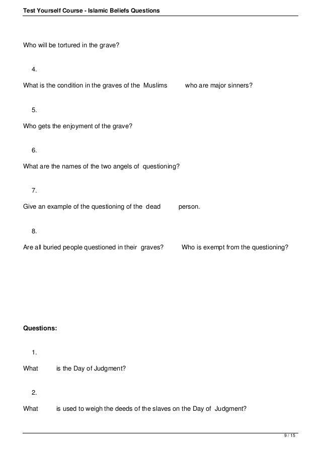 Test Your BASIC Islamic Knowledge
