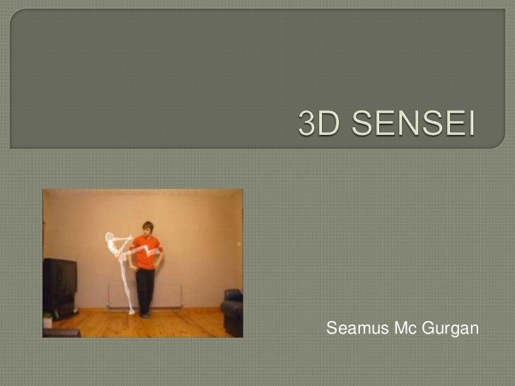 3D SENSEI<br />Seamus Mc Gurgan<br />