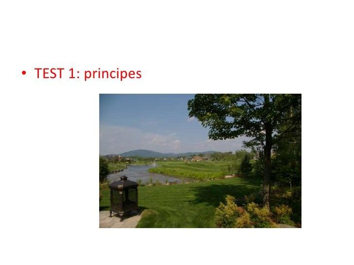TEST 1: principes<br />
