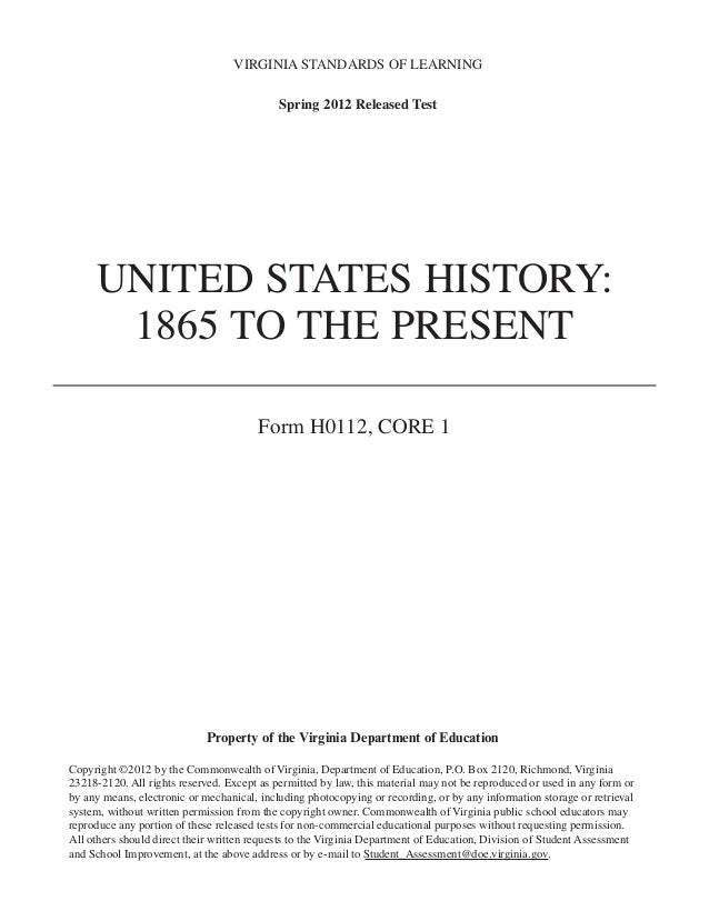 united states history 1865 1945 essay The history of free, universal public education in the united states this paper provides an overview and analysis of the history of free, universal, public education in the united states.
