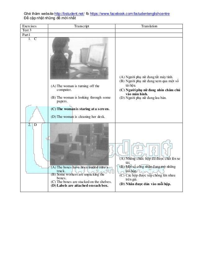 Ghé thăm website http://bstudent.net/ fb https://www.facebook.com/bstudentenglishcentre Để cập nhật những đề mới nhất Exer...