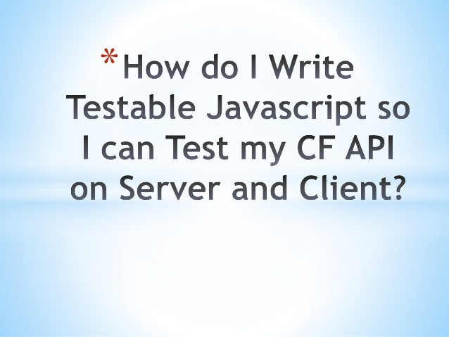 how to write api tests