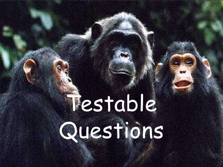 Testable Questions<br />