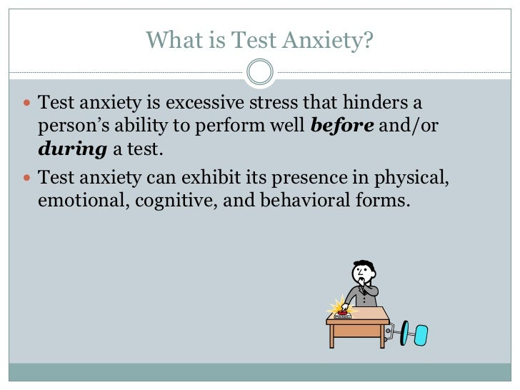 Test anxiety management skills Slide 2
