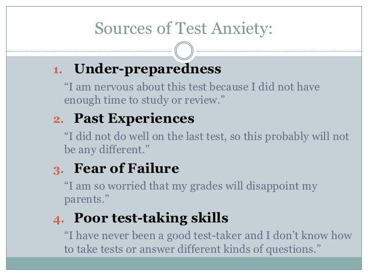 Test anxiety management skills Slide 3