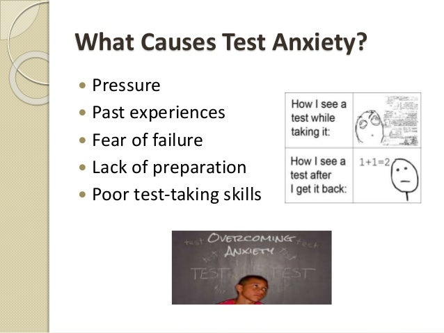 Test anxiety causes students to underperform in examinations Essay