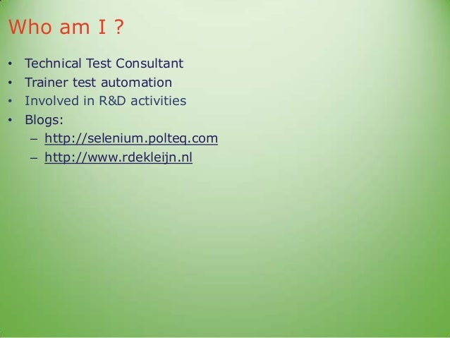 Structured Functional Automated Web Service Testing Slide 2