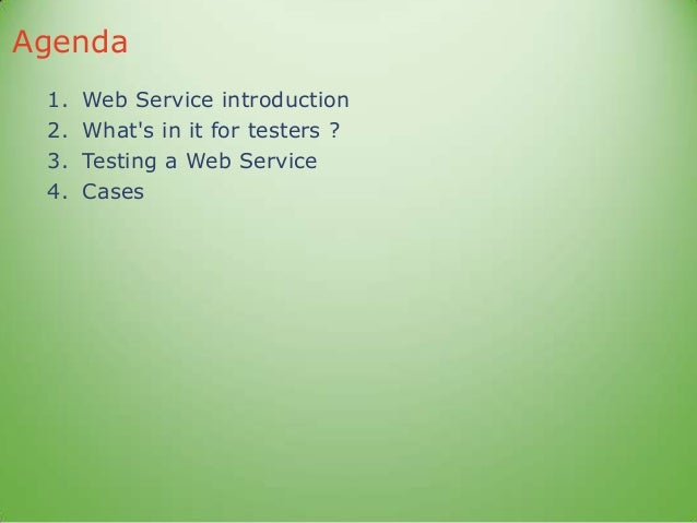 Structured Functional Automated Web Service Testing Slide 3