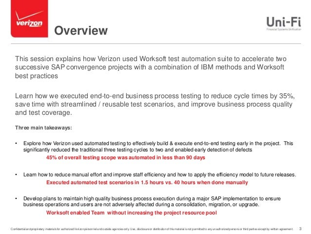 How Verizon Uses Automation to Accelerate SAP Projects