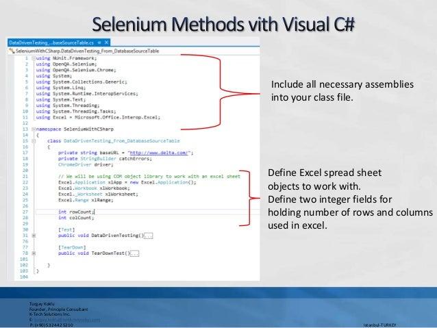 excel methods in selenium