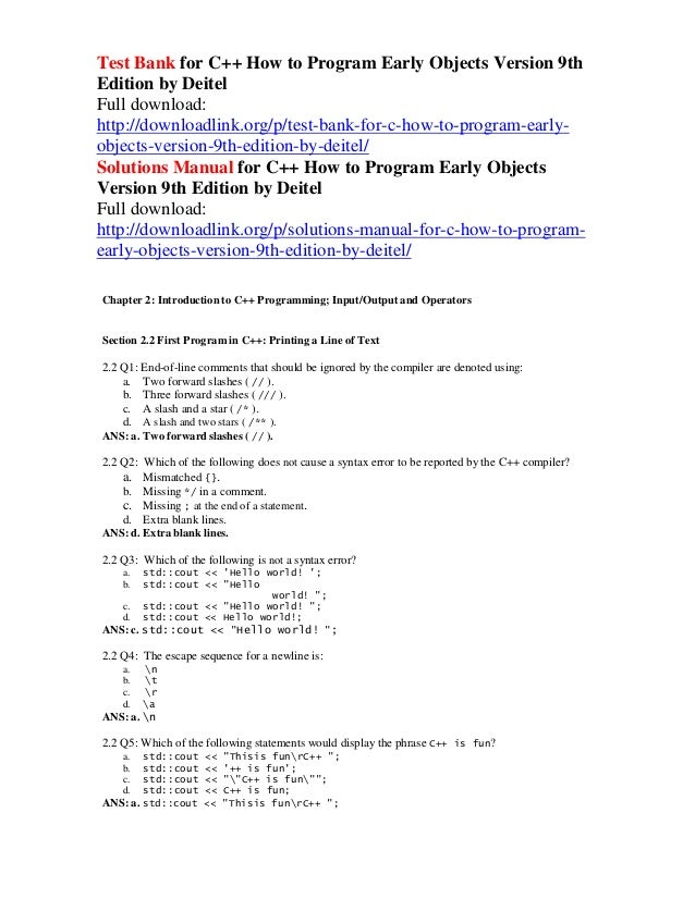 27+ C++ How To Program 10Th Edition Pdf Download  Gif