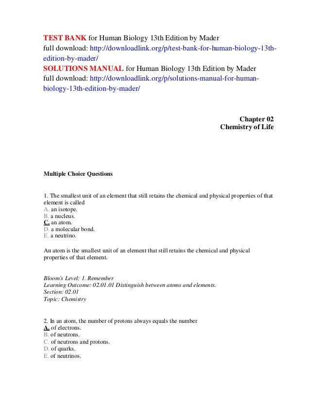 Mader Biology 11th Edition Test