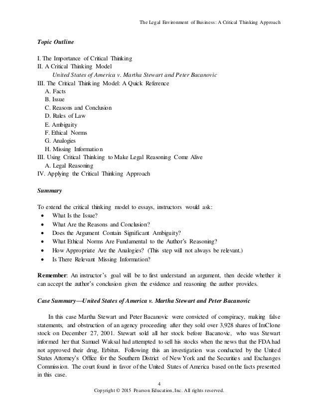 Essays legal environment business