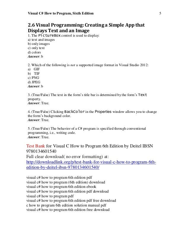 Deitel C How To Program Pdf