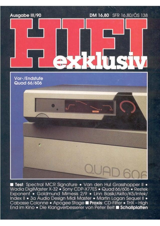 Testbericht RESTEK EXPONENT in Hifi exklusiv 03 1990