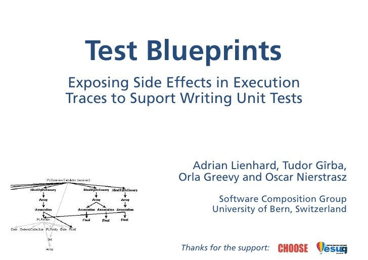 Test Blueprints Exposing Side Effects in Execution Traces to Suport Writing Unit Tests                      Adrian Lienhar...