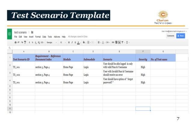 Test case development 7 test scenario template 7 pronofoot35fo Images