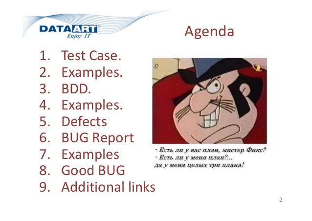 Test cases and bug report v3.2 Slide 2