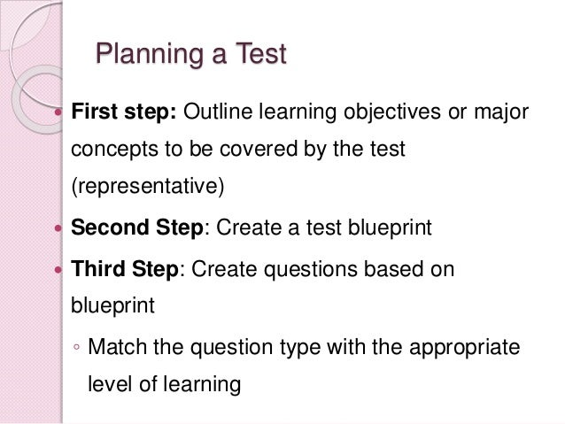 Test construction performance testing skills 9 malvernweather Choice Image
