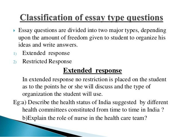Recent Class Questions
