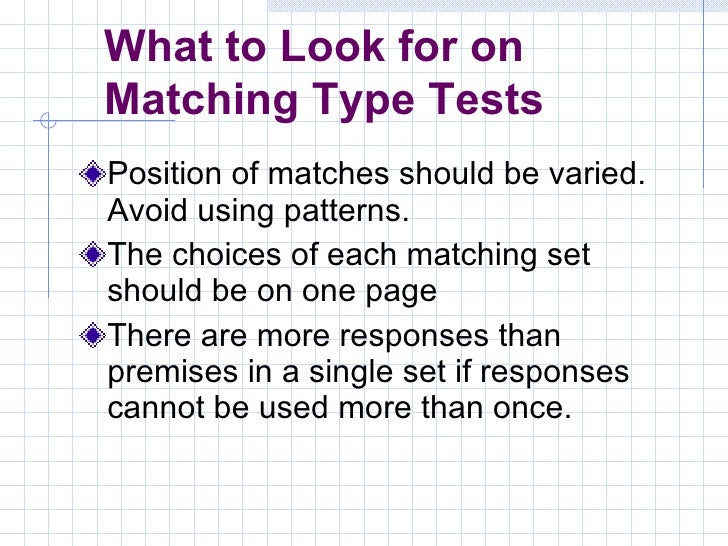 Constructing tests