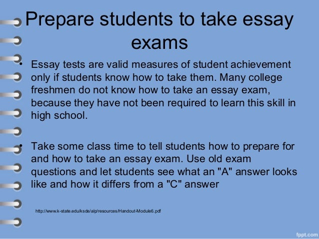 constructing an essay test What this handout is about at some time in your undergraduate career, you're going to have to write an essay exam this thought can inspire a fair amount of fear: we struggle enough with.