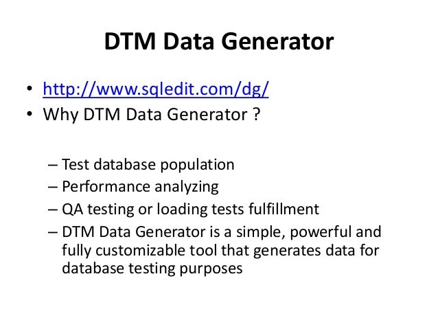 Test data generation