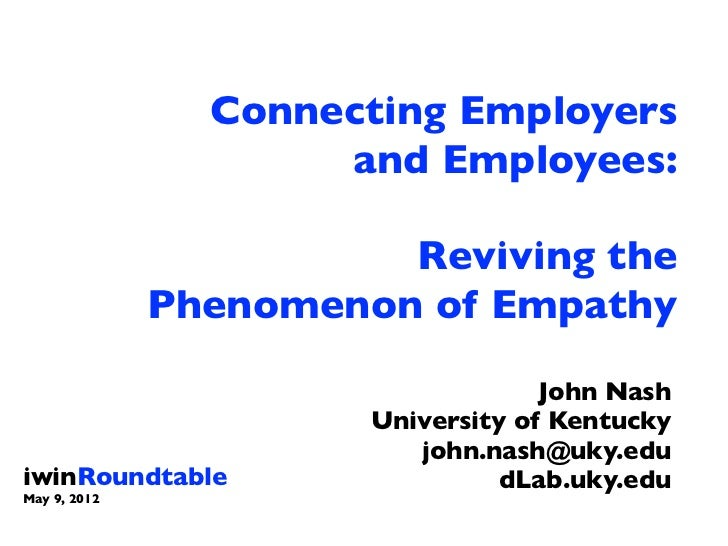 Connecting Employers                     and Employees:                        Reviving the              Phenomenon of Emp...
