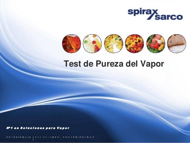 Test de pureza del vapor culinario