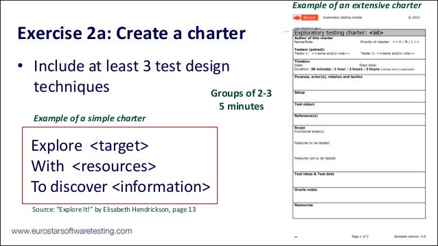 Test design made easy and fun rik marselis eurostar for Test charter template