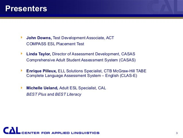 Test Developers Panel Discussion (2010) Full